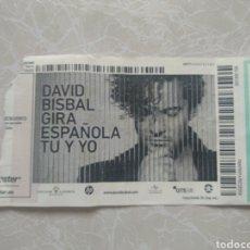Entradas de Conciertos: ENTRADA CONCIERTO DAVID BISBAL GIRA ESPAÑOLA TÚ Y YO 2014. Lote 294086848