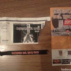 Entradas de Conciertos: ENTRADA LEYENDAS DEL ROCK 2013 + PULSERA Y PROGRAMA. Lote 294494803