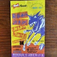 Entradas de Conciertos: THE ROLLING STONES - URBAN JUNGLE 1990 ENTRADA CONCIERTO BARCELONA **** 14 X 6 CMS. Lote 295521948