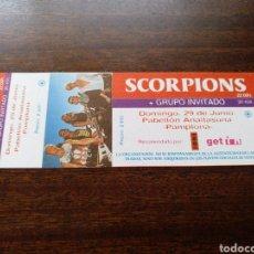 Biglietti di Concerti: ENTRADA CONCIERTO SCORPIONS ORIGINAL SIN NUMERAR PAMPLONA 1996. Lote 295802878