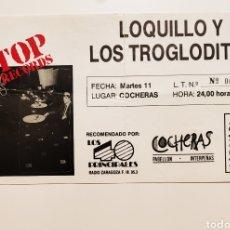 Biglietti di Concerti: LOQUILLO 1988. Lote 296003958