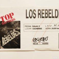 Biglietti di Concerti: REBELDES 1988. Lote 296004148