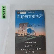Entradas de Conciertos: ENTRADA DE CONCIERTOS DE SUPERTRAMP R-012. Lote 296583478