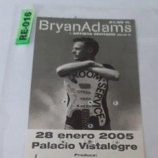 Entradas de Conciertos: ENTRADA DE CONCIERTOS DE BRYAN ADAMS R-016. Lote 296586753
