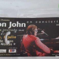 Entradas de Conciertos: ENTRADA DE CONCIERTOS DE ELTON JOHN R-017. Lote 296587808
