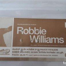 Entradas de Conciertos: ENTRADA DE CONCIERTOS DE ROBBIE WILLIAMS R-018. Lote 296588943