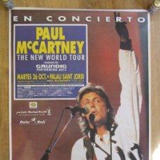 Entradas de Conciertos: BEATLES POSTER CARTEL CONCIERTO PAUL MCCARTNEY BARCELONA 26 OCTUBRE 1993 GRANDES DIMENSIONES NUEVO. Lote 296595788