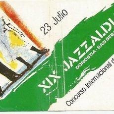 Entradas de Conciertos: CONCIERTO FESTIVAL DE JAZZ DE SAN SEBASTIAN 1984. B.B.KING.. Lote 297078228