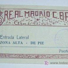 Coleccionismo deportivo: ANTIGUA ENTRADA DE FUTBOL 1948 - REAL MADRID ESTADIO CHAMARTIN . PARTIDO DEL 31.-10-1948 ENTRE EL RE. Lote 25616450