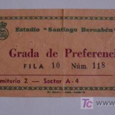 Coleccionismo deportivo: ENTRADA DEL R.MADRID-BARCELONA,AÑOS 60. Lote 26894527