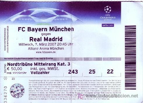 Bayern Madrid Tickets