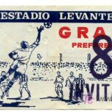 Coleccionismo deportivo: ENTRADA FUTBOL LEVANTE UD - ESTADIO LEVANTE , EF281. Lote 26777287
