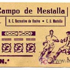Coleccionismo deportivo: ENTRADA FUTBOL MESTALLA RECREATIVO HUELVA AÑOS 60 EFD17 .. Lote 169742348