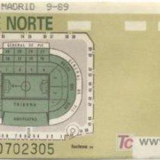 Coleccionismo deportivo: ENTRADA FÚTBOL ESTADIO LUIS CASANOVA AÑO 89 VALENCIA - AT. MADRID. Lote 17192305