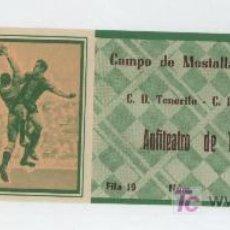 Coleccionismo deportivo: ENTRADA. CAMPO DE MESTALLA. C.D. TENERIFE - C.D. MESTALLA. AÑOS 50.. Lote 133528314