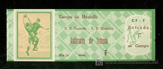 ENTRADA DE FUTBOL. CAMPO DE MESTALLA. C.D. TENERIFE C.D. MESTALLA (Coleccionismo Deportivo - Documentos de Deportes - Entradas de Fútbol)