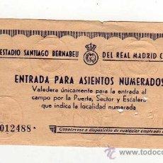 Coleccionismo deportivo: REAL MADRID - ENTRADA , ESTADIO SANTIAGO BERNABEU , . Lote 18734291