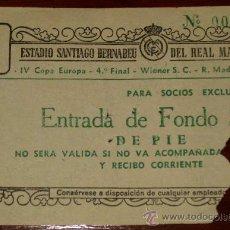 Coleccionismo deportivo: ENTRADA DE PARTIDO DE FUTBOL . 18 MARZO 1959 - CUARTOS DE FINAL IV COPA DE EUROPA - REAL MADRID 7, . Lote 25572626