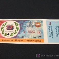 Coleccionismo deportivo: ENTRADA DE FUTBOL SIN CORTAR - F.C. BARCELONA - MANCHESTER CITY - . Lote 25879678