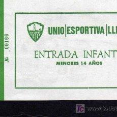 Coleccionismo deportivo: ENTRADA UNIO ESPORTIVA LLEIDA - ENTRADA INFANTIL.. Lote 19097467