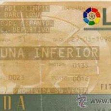 Coleccionismo deportivo: RCD ESPAÑOL - ENTRADA ESTADI OLIMPIC DE BARCELONA - RCD ESPAÑOL - RC DEPORTIVO , 1998. Lote 20180736