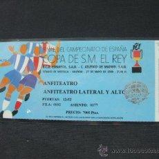Coleccionismo deportivo: ENTRADA PLASTIFICADA - FINAL COPA DEL REY - R.C.D. ESPAÑOL - ATLETICO DE MADRID - 27 MAYO DE 2.000. Lote 27123908