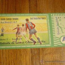 Coleccionismo deportivo: ENTRADA DE FUTBOL ESTADIO SANTIAGO BERNABEU (REAL MADRID-REAL OVIEDO). Lote 25068214