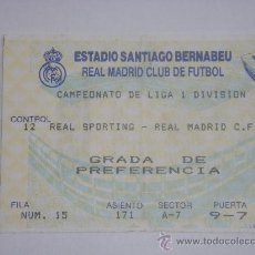 Coleccionismo deportivo: REAL MADRID - REAL SPORTING. Lote 27045921