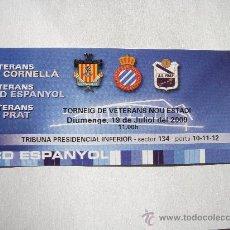 Coleccionismo deportivo: RCD ESPANYOL - T. VETERANS 19-7-2009-. Lote 27551764