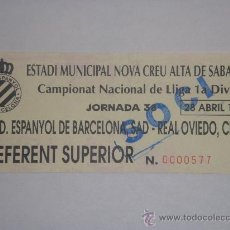 Coleccionismo deportivo: RCD ESPANYOL - R.OVIEDO- 28-4-1996-. Lote 27531666