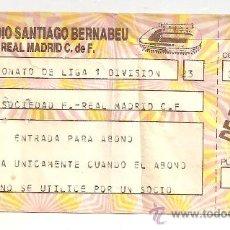 Coleccionismo deportivo: REAL MADRID: ENTRADA DE UN PARTIDO REAL SOCIEDAD-REAL MADRID. Lote 24862623