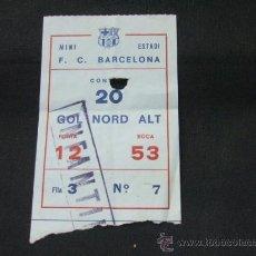 Coleccionismo deportivo: ENTRADA - MINI ESTADI F.C. BARCELONA - GOL NORD ALT - . Lote 24909554
