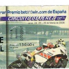Coleccionismo deportivo: ENTRADA GRAN PREMIO DE ESPAÑA DE MOTO 2006. Lote 27458616