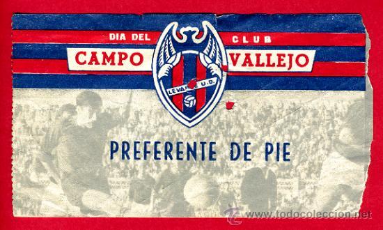 ENTRADA FUTBOL , LEVANTE UD MESTALLA , 1966 , ORIGINAL, EF1391 (Coleccionismo Deportivo - Documentos de Deportes - Entradas de Fútbol)