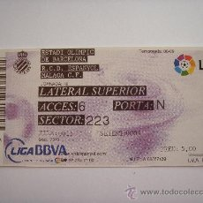 Coleccionismo deportivo: RCD ESPANYOL - ESTADI OLIMPIC - ULTIMA-. Lote 26017009