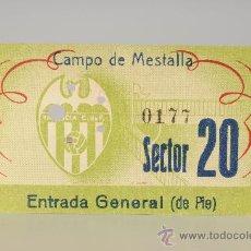 Coleccionismo deportivo: ENTRADA DE FÚTBOL VALENCIA C.DE F. - CAMPO DE MESTALLA. Lote 26072409