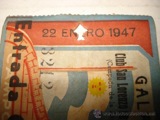 Coleccionismo deportivo: Antigua Entrada al Campo de MESTALLA . Galas de Prensa San Lorenzo de Almagro - Valencia Año 1947 - Foto 3 - 28666483