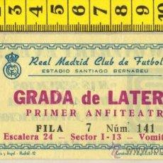 Coleccionismo deportivo: ENTRADA DE FUTBOL DEL REAL MADRID ESTADIO SANTIAGO BERNABEU . Lote 28775668