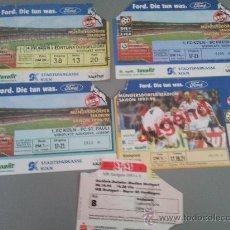 Coleccionismo deportivo: LOTE 5 ENTRADAS BUNDESLIGA ALEMANIA. Lote 28816678