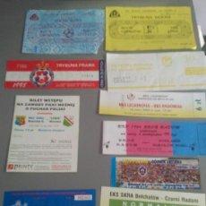 Coleccionismo deportivo: LOTE 10 ENTRADAS POLONIA. Lote 28818355