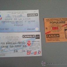 Coleccionismo deportivo: LOTE 3 ENTRADAS FRANCIA. Lote 28818593