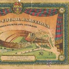 Coleccionismo deportivo: ENTRADA ORIGINAL INAUGURACIÓN ESTADIO NOU CAMP 1957. Lote 29384019