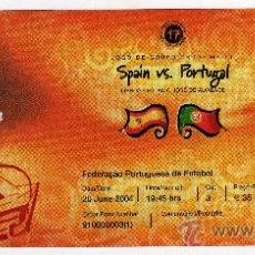 Coleccionismo deportivo: ENTRADA EUROCOPA 2004 PORTUGAL - PARTIDO ESPAÑA - PORTUGAL , . Lote 29765769