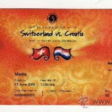 Coleccionismo deportivo: ENTRADA EUROCOPA 2004 PORTUGAL - PARTIDO SUIZA - CROACIA , . Lote 29765800