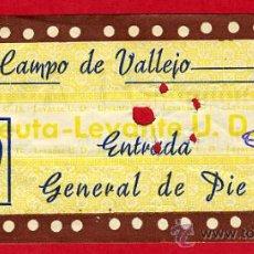 Coleccionismo deportivo: ENTRADA FUTBOL , CAMPO VALLEJO , LEVANTE CEUTA , 1959 , EF1936. Lote 29901977