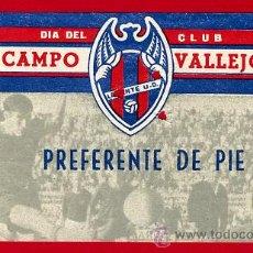 Coleccionismo deportivo: ENTRADA FUTBOL , CAMPO VALLEJO , LEVANTE UD MESTALLA , 1966 , EF1950. Lote 29902148