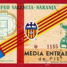 Coleccionismo deportivo: ENTRADA FUTBOL , VALENCIA CF , X TROFEO NARANJA , EF1998. Lote 29902938