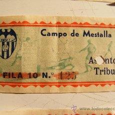 Coleccionismo deportivo - ENTRADAS VALENCIA CF - 30536393