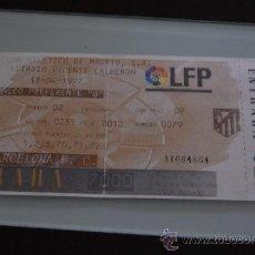 Coleccionismo deportivo: ENTRADA DE FUTBOL TEMPORADA 1997 ATLETICO DE MADRID-BARCELONA. Lote 30847683