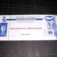 Coleccionismo deportivo: ENTRADA DE FUTBOL - R MADRID , COMPETICION EUROPEA. Lote 30987835